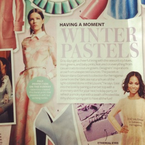 InStyle's December Issue Pastel Feature